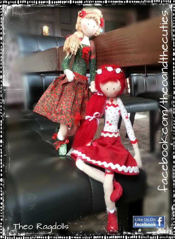 http://www.ebay.co.uk/itm/261462692288?ssPageName=STRK:MESELX:IT&_trksid=p3984.m1555.l2649 Theo Ragdolls - Christmas Fairy and Cherry Rose (Bogi's Dolls) Handmade Doll, Fabric Doll, Cloth Doll