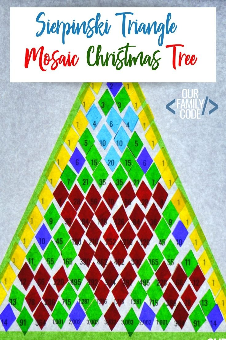 Pascal S Triangle Christmas Tree Patterns Math Activity Early Learning Math Math Activities Craft Activities For Kids