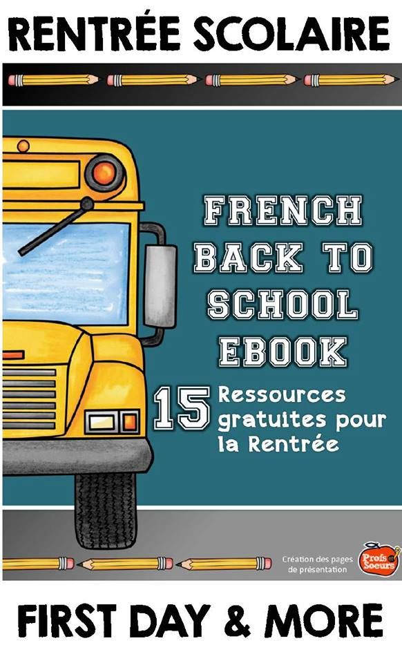 Download this great ebook with 15 free products for the French class... just in time for Back to School!