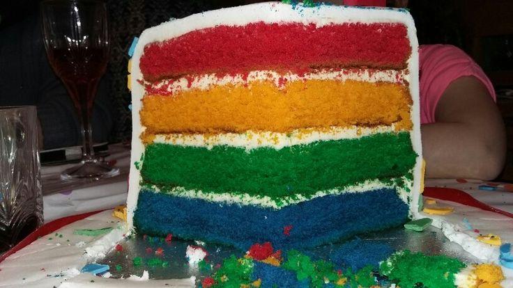 Hungry Caterpillar rainbow Cake