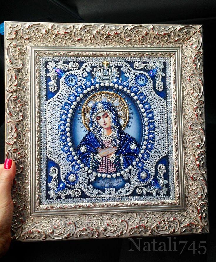 Богородица Умиление  Образа в каменьях