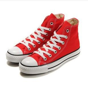 Converse All Star Canvas Ox Unisex Chuck Taylor Trainers High Top China Red