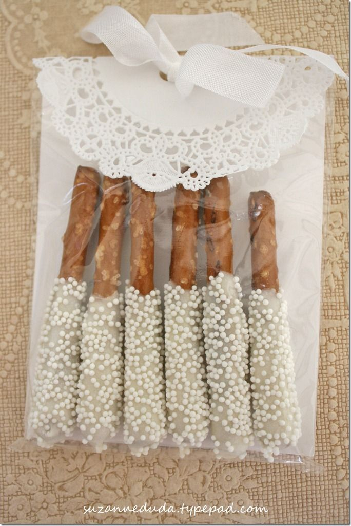 Dipped pretzels in a pretty package
