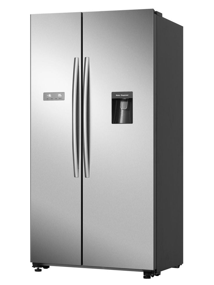 Hisense Rs741n4wc11 90cm Wide Total No Frost American Style Fridge Freezer With Non Plumbed Wate In 2020 American Style Fridge Freezer Fridge Freezers Water Dispenser