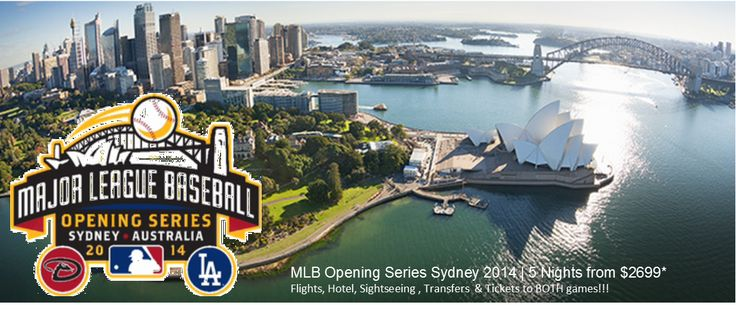 MLB is heading Down Under! The Arizona Diamondbacks and the Los Angeles Dodgers will start the season in Australia for the 2014 season. Tickets sold out incredibly fast but we can still get you there!