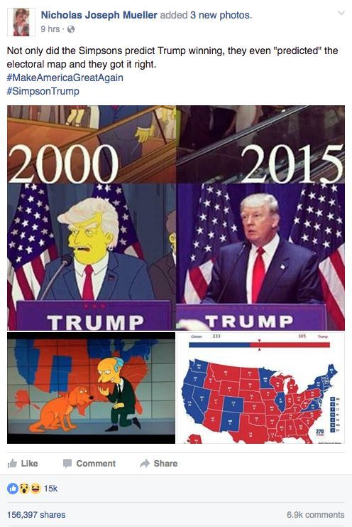 Best Simpsons Donald Trump Episode Ideas On Pinterest - Simpons us map vs real voters map
