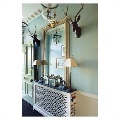 radiator cover hallway - Mirror great idea over the cover