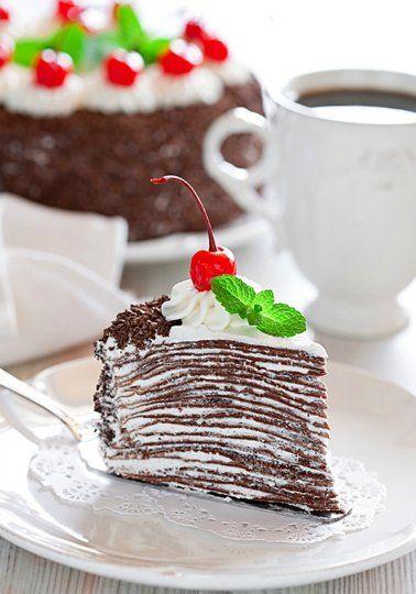 Торт из шоколадных блинчиков со сливочно-шоколадным кремом. Непередаваемо вкусный!. Обсуждение на LiveInternet - Российский Сервис Онлайн-Дневников