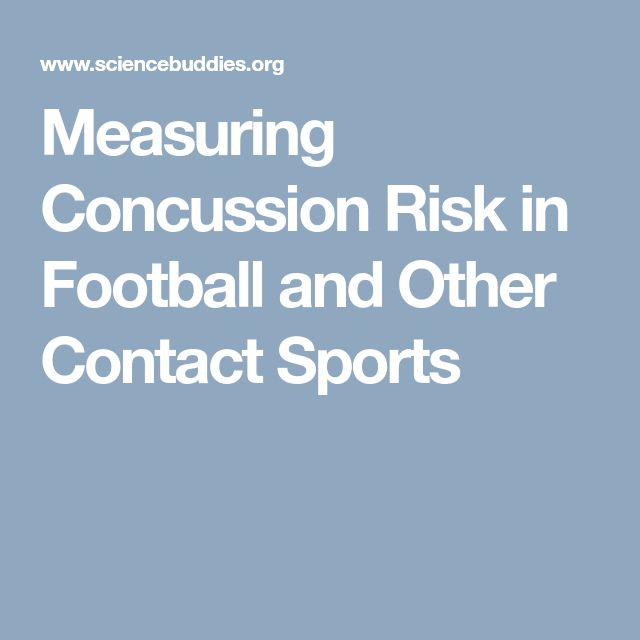 Measuring Concussion Risk in Football and Other Contact Sports