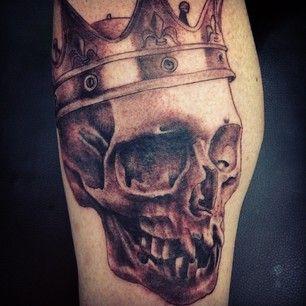 Skull Tattoo by Zak Khanat at LDF Tattoo Marrickville, Sydney, NSW. #tattoo #sydneytattoo #skulltattoo #ldftattoo #crowntattoo