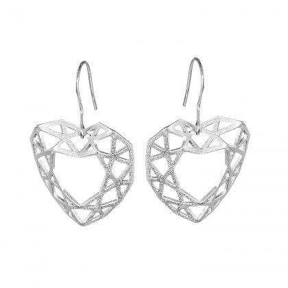 ON NET Earrings silver Design Taru Harmaala Chaloff  / Lapponia Jewelry / Handmade in Helsinki