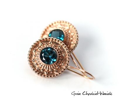 18k rose gold & London Blue Topaz