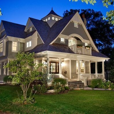 rooflines: Idea, Dreams Home, Front Porches Design, Cap, Dreams House, Traditional Exterior, House Colors, Porches Swings, Nantucket Style