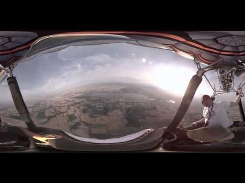 4K Balloon flight and parachute jump - 360 video for VR - YouTube