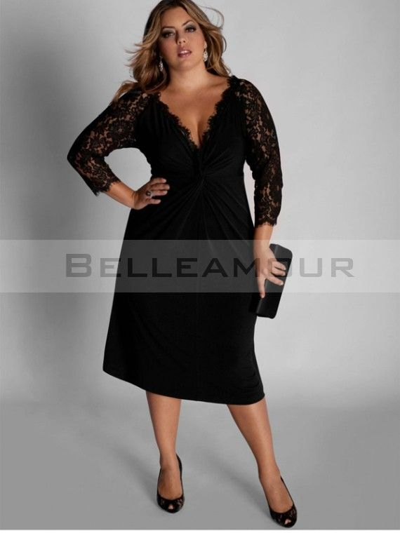 Robe noire chic taille 44