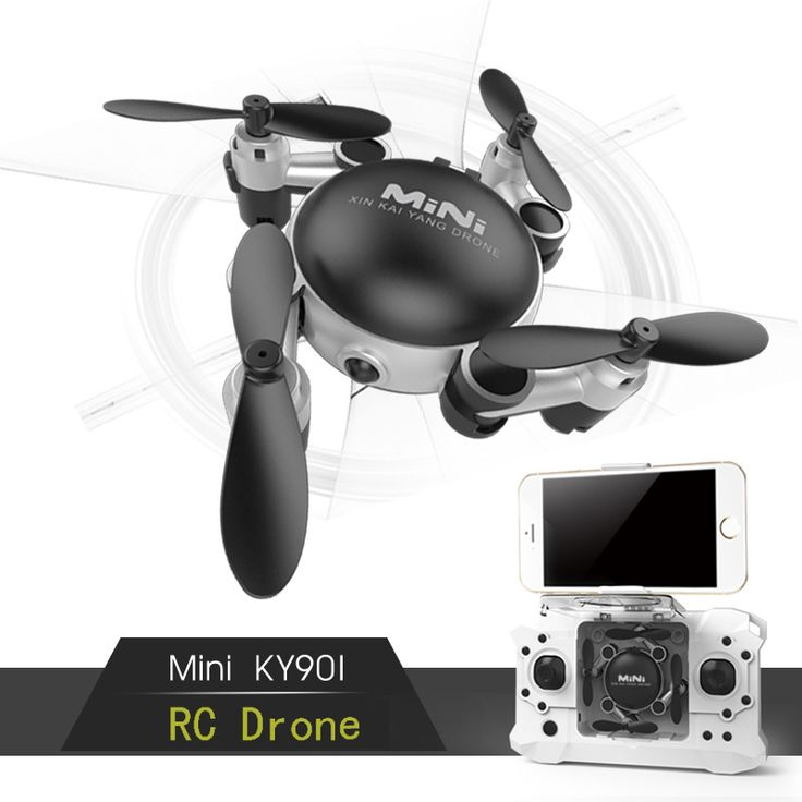 ==> [Free Shipping] Buy Best KY901 Fold Quad-Copter FPV Mini Drone With 0.3MP Camera HD Dron RC Helicopter Helicoptero De Drones Inside The Controller Online with LOWEST Price | 32808619801