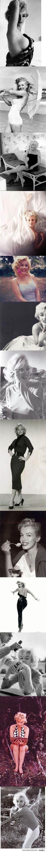 découverte, intrigante, laissant deviner les courbes de sa sensualité... Marilyn Monroe.