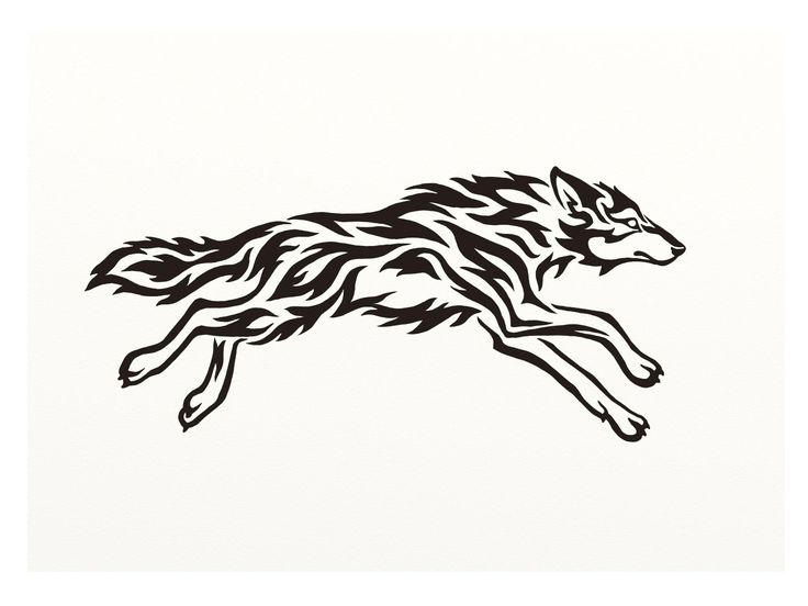 running wolf silhouette - Google Search