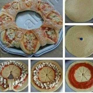 Rezept Pizza - Kranz - Rezept aus der Kategorie Backen herzhaft