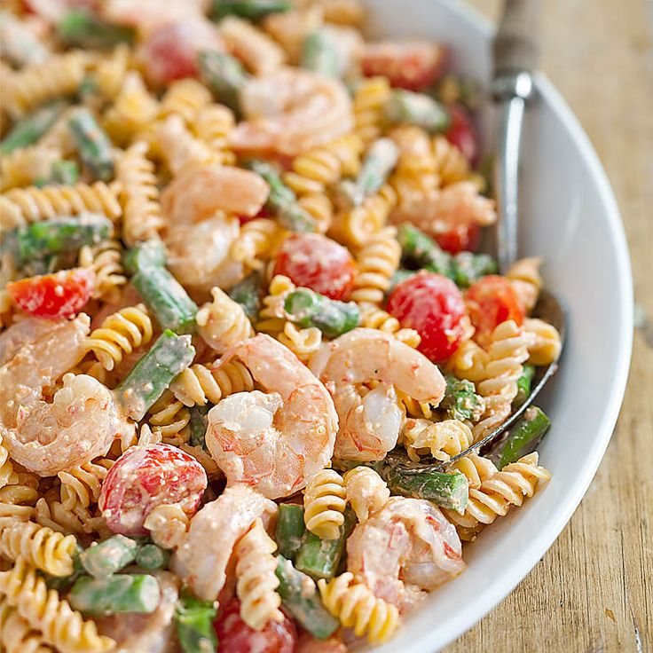 Roasted red pepper shrimp and pasta salad recipe for Prawn and pasta salad recipes