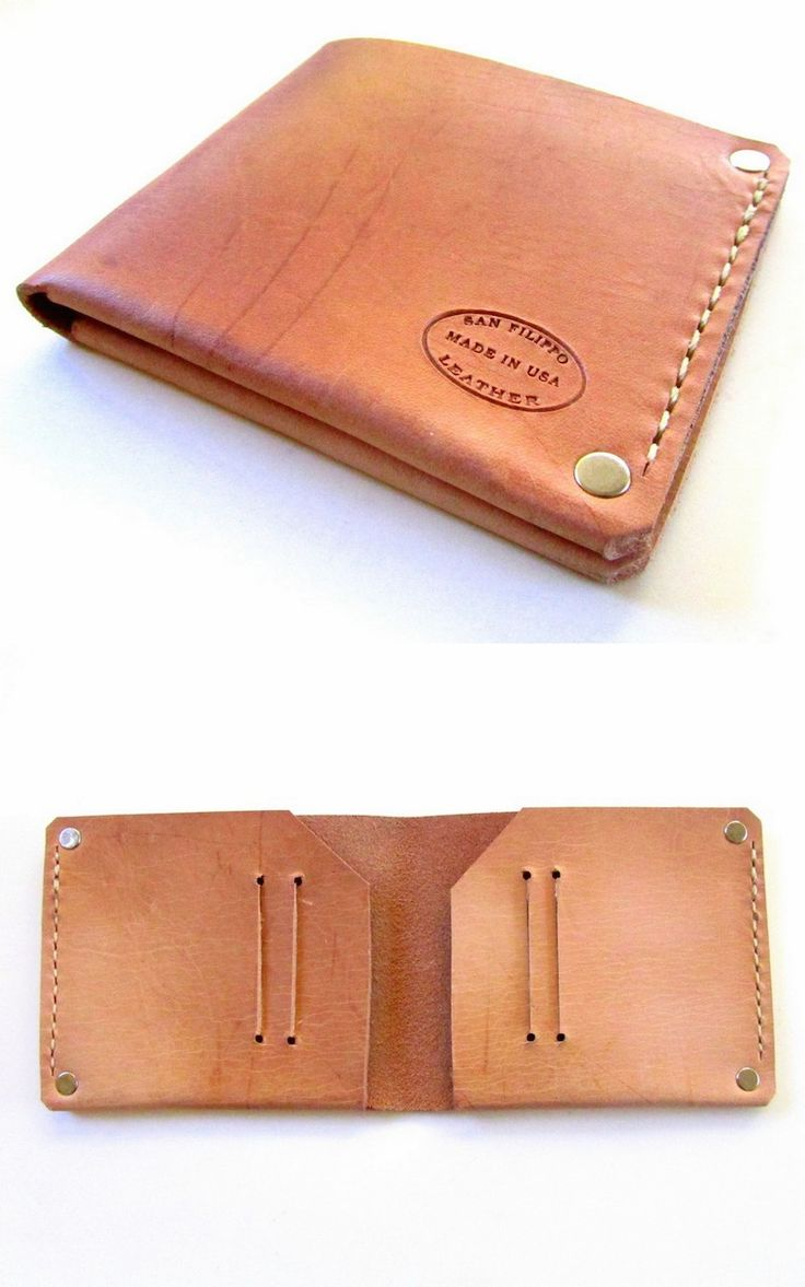 Oiled Leather Bifold Wallet. Nice slim minimalist mens wallet from San Filippo Leather.