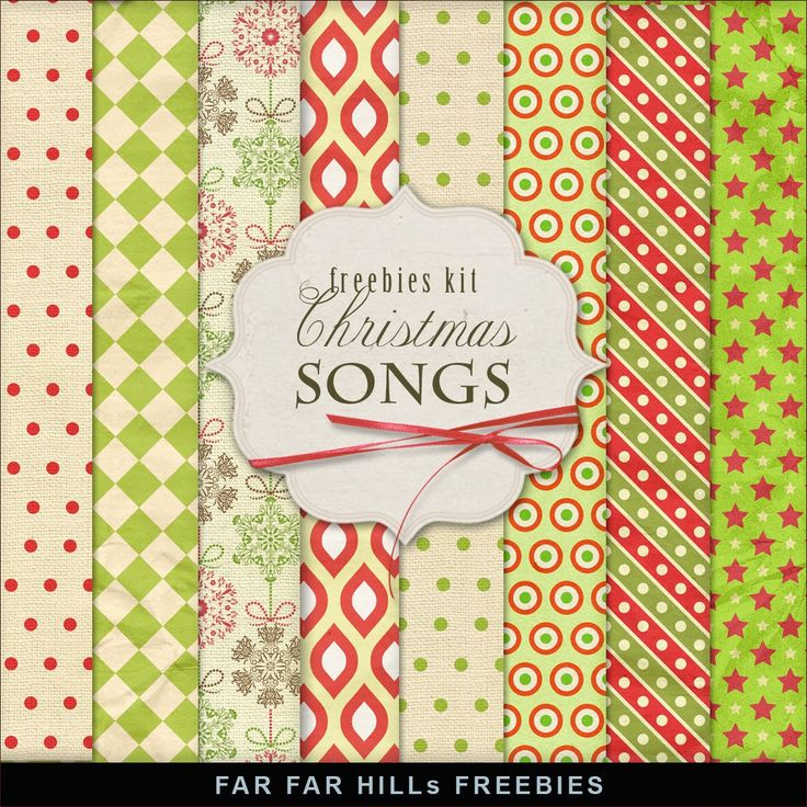 Far Far Hill - Free database of digital illustrations and papers: New Freebies Kit of XMAS Papers - Christmas Songs