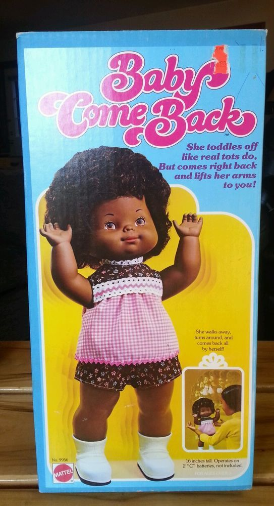 Ebay Kitchen Cabinets >> Baby Come Back Doll Black 1976 Mattel BNIB | my dolls ...