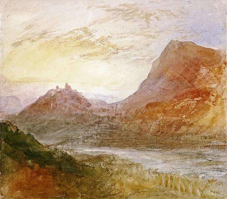J. M. W. Turner - Sion, Rhone