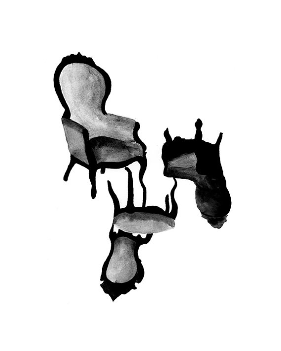Chairs // 9x12 Giclee Print by AmaMocci on Etsy, $20.00