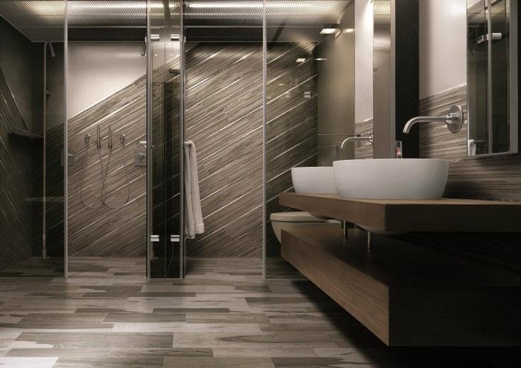 Pavimento in gres porcellanato effetto legno OVER - CERDOMUS: Grey