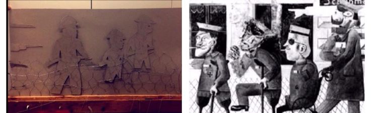 otto dixs the war piece reminds me of my art piece that I done the faces are very similar.