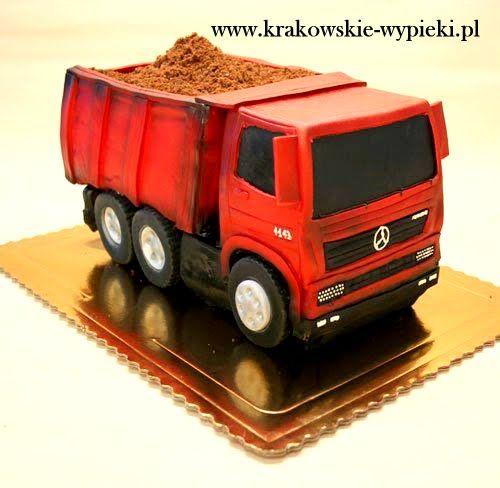 Tort ciężarówka z Cukierni Krakowskich Wypieków