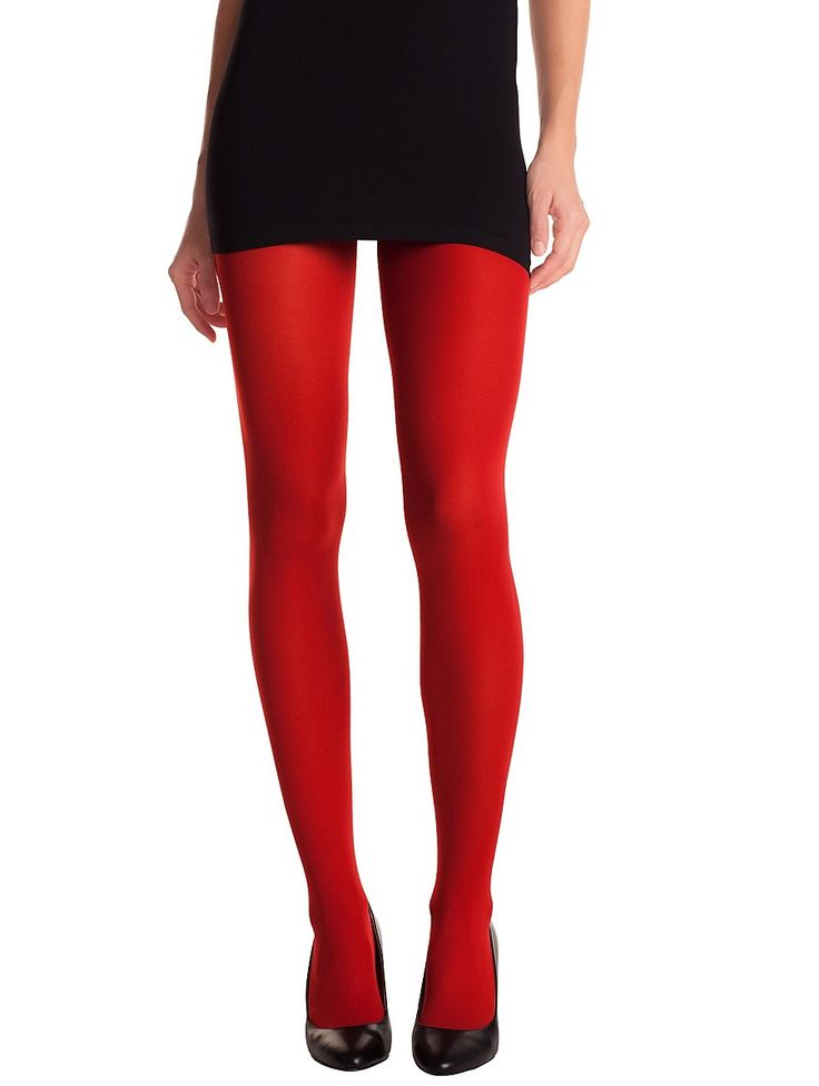 dim collant opaque velout madame so daily 40 den rouge chili - Collants Opaques Colors