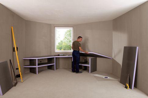 Matériaux isolants, Panneaux de construction, Polystyrène extrudé, XPS, Receveurs de douche - Plan vasque