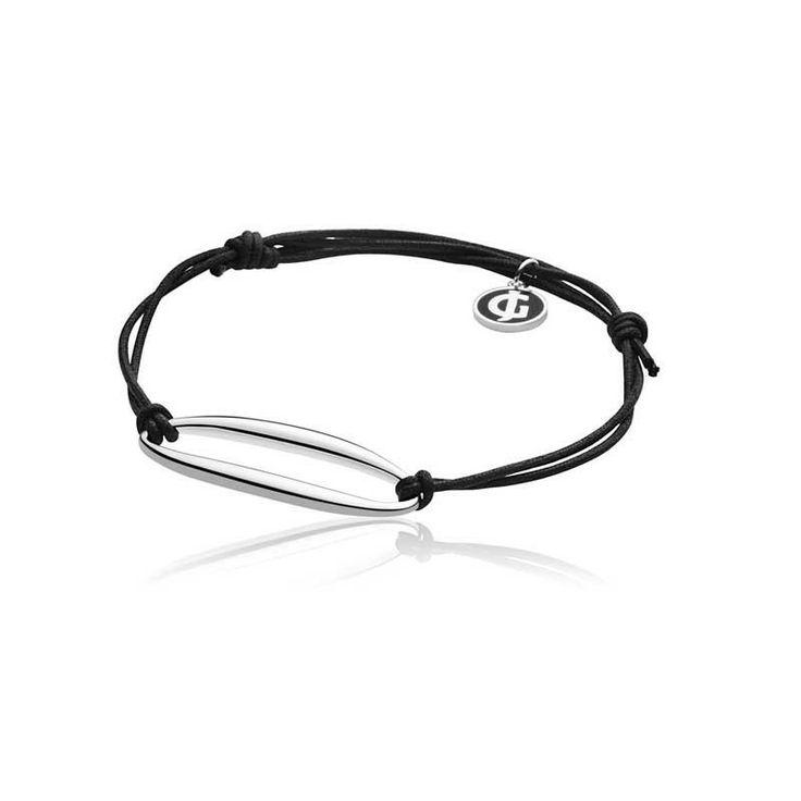 ZEPHYR BRACELET 500A BY GEORG JENSEN - SILVER/BLACK CORD #bracelet #jewellery