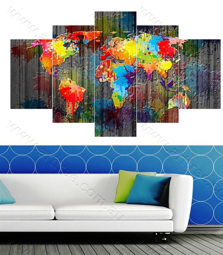 16 best wall art prints sydney images on pinterest canvas oil colorful world map gumiabroncs Gallery