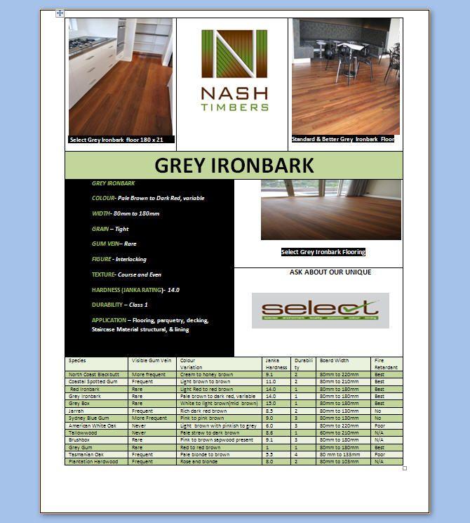 Australian hardwood Grey Ironbark