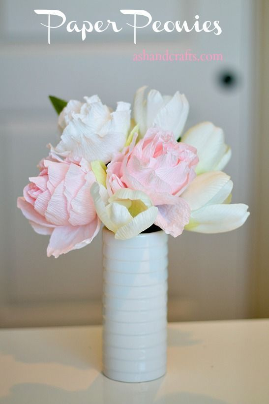 Paper Peonies by Ash and Crafts