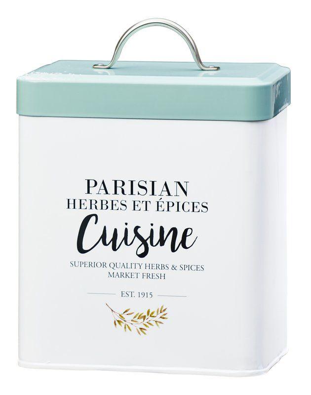 Parisian Cuisine Metal 6.5 qt. Kitchen Canister