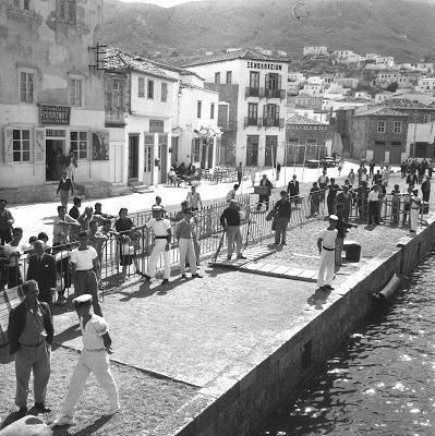 1960 ~ At the port of Hydra (photo by Bjørn Glorvigen) https://www.facebook.com/groups/oldgreece/?fref=nf