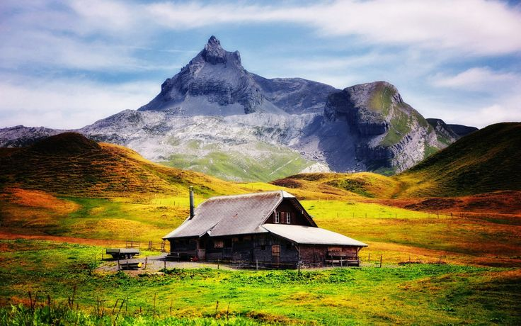 Mountain House Beautiful Scenery Wallpaper for desktop & mobile in high resolution free download. We have best collection of beautiful scenery wallpaper hd