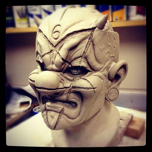 Slipknot Clown Mask Sculpture | por MikeFx...