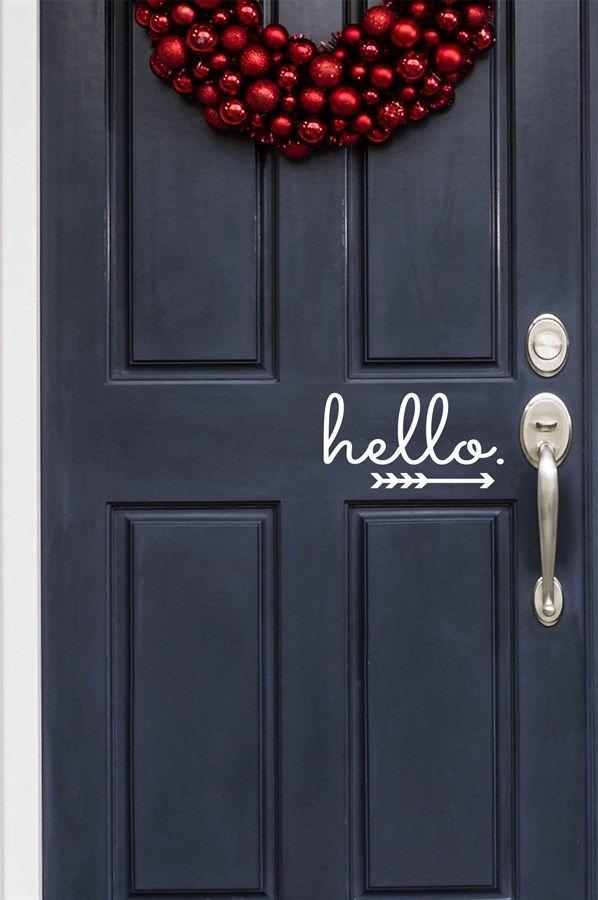 Vinyl Front Door Decals | 10 Designs! | Jane