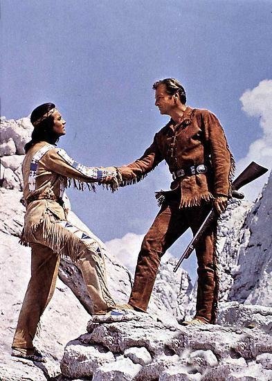 """Nach dem Erfolgsstreifen """"Der Schatz im Silbersee"""" folgten zehn weitere Filme nach Vorlagen von Karl May, in denen Brice die Rolle des Apachenhäuptlings Winnetou spielte."""