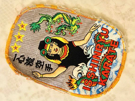 Vtg ISSHINRYU KARATE Fist Martial Arts Patch / Sew On Embroidery Patch / Japanese Mermaid Water Goddess Megami / Bright Colorful Asian Art / Martial Arts Emblem / Isshinryu Crest Patch / Japanese Karate Style Isshinryu Emblem / Vertical Fist Symbol / Japanese Mermaid Half Woman Half Sea