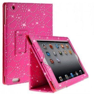 DN-Technology Diamond Bling Sparkly Gem Glitter Leather Flip Case Cover Pouch For Apple iPad 2nd / 3rd / 4th Generation With Stylus (Pink) D & N http://www.amazon.co.uk/dp/B00H10JTZ4/ref=cm_sw_r_pi_dp_cQGJwb0XDT3B7
