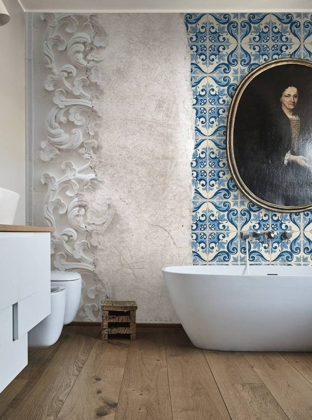 49 best carta da parati bagno images on pinterest - Carta da parati bagno ...