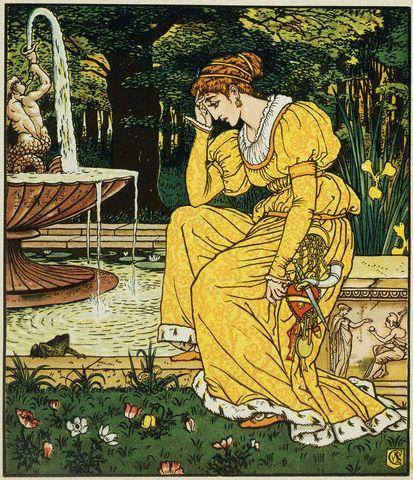 Image result for frog prince old illustration