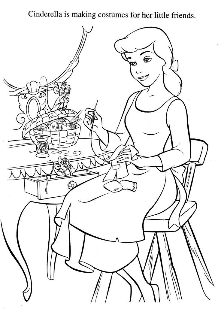 Cinderella, Coloring Pages Desenhos, Disney desenhos
