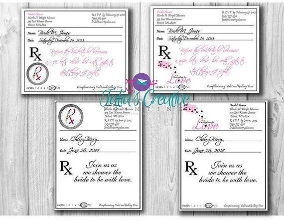 Prescription Pad Invitation Digital File By Taliasprinting On Etsy